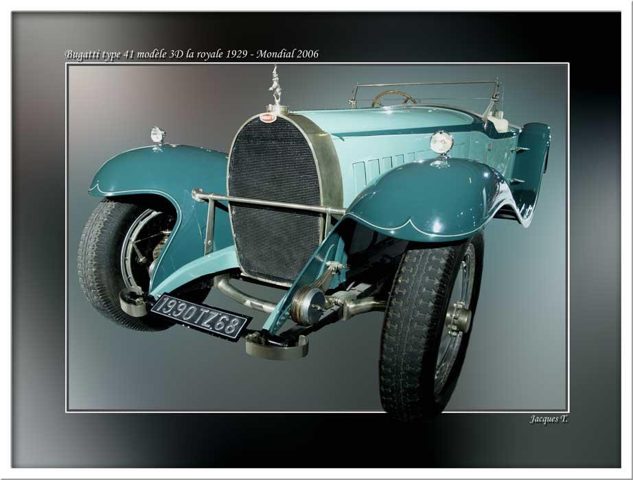 Bugatti type 41 modèle 3D la royale