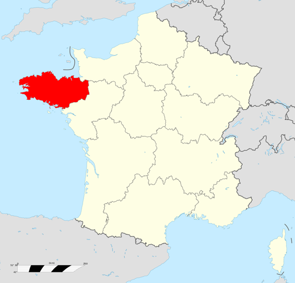 Carte Régions Bretagne
